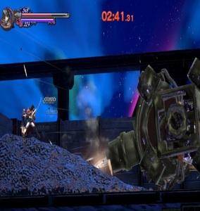 Miriam and Zangetsu vs gluttony train Bloodstained ritual of the night Nintendo Switch Xbox One PS4