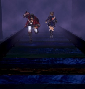 Miriam and Zangetsu chasing the ghost train Bloodstained ritual of the night Nintendo Switch Xbox One PS4