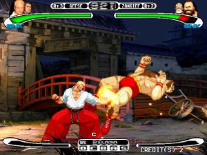 Capcom Vs. SNK: Pro PS1 Geese vs Zangief snk Capcom