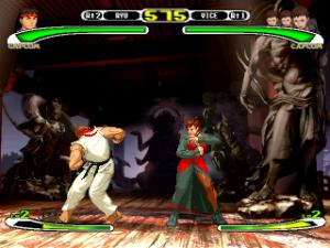 Capcom Vs. SNK: Pro PS1 Ryu vs Vice snk Capcom