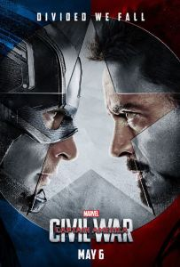 Captain America: Civil War movie poster Chris Evans Robert Downey Jr