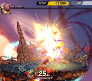 Boss fight Giga Bowser super Smash Bros ultimate Nintendo Switch