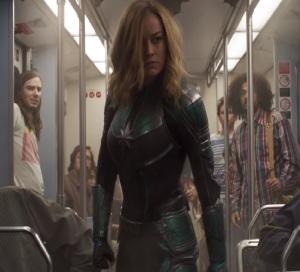 Captain Marvel 2019 Vers lands on Earth brie Larson