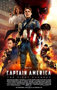 Captain America the first Avenger movie poster Chris Evans Hayley Atwell Hugo Weaving