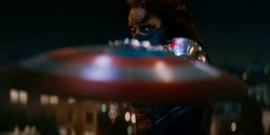 Captain America: The Winter Soldier bucky catches the shield Sebastian Stan