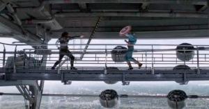 Captain America: The Winter Soldier Steve Rogers vs bucky final fight Sebastian Stan Chris Evans