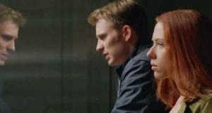 Captain America: The Winter Soldier Steve Rogers and Natasha Romanov Chris Evans Scarlett Johansson