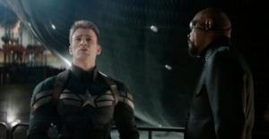 Captain America: The Winter Soldier Steve Rogers and Nick Fury Chris Evans Samuel L Jackson