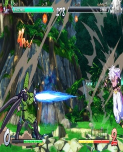 Cell uses Kamehameha on Android 21 Dragon Ball FighterZ Nintendo Switch Xbox One PS4
