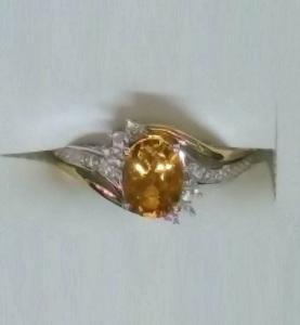 Ring with Citrine birthstone