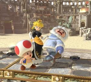 Princess peach vs ice climbers Coliseum Stage super Smash Bros ultimate Nintendo Switch fire Emblem