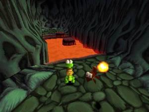 Lava level Croc: Legend of the Gobbos PS1