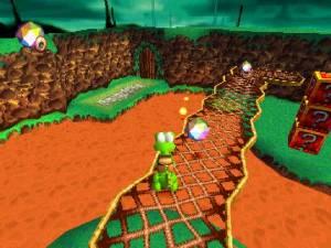 Crossing a bridge Croc: Legend of the Gobbos PS1
