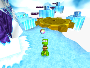Ice level Croc: Legend of the Gobbos PS1