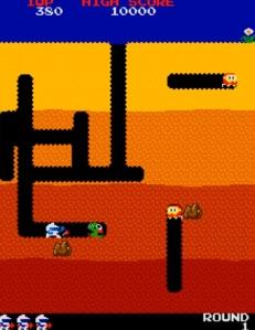 Dig Dug Atari Namco arcade game
