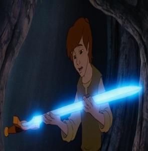 Taran finds the legendary sword the black cauldron disney