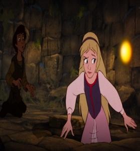 Princess Eilonwy and Taran the black cauldron disney