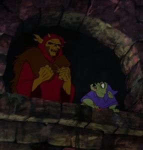The Horned King plotting evil the black cauldron disney