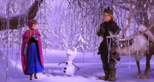 Kristoff Olaf and Princess anna frozen 1 disney