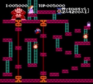 2nd level Donkey Kong NES Nintendo