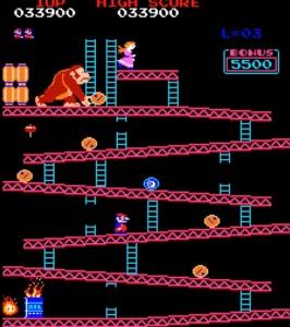 Donkey Kong Arcade version Nintendo level 1