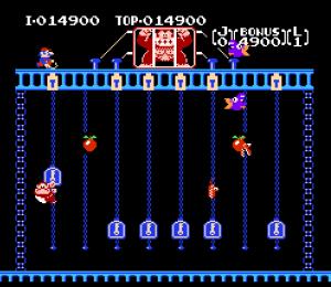 Final level Donkey Kong Jr. NES Nintendo