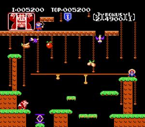 First level Donkey Kong Jr. NES Nintendo