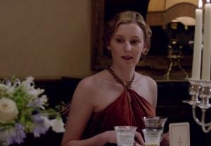 Downton Abbey Lady Edith Crawley red dress