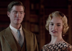 Downton Abbey Lady Rose MacClare and her husband lily James