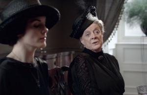 Downton Abbey Violet Crawley Mary Crawley funeral clothing