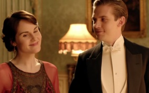Downton Abbey mary and Matthew Crawley dinner party