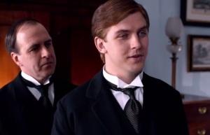 Downton Abbey mr mosely dressing Matthew Crawley