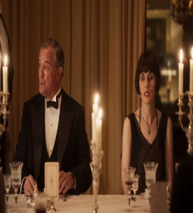 Robert and Mary dinner with the king and queen Downton Abbey 2019 Film