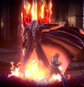 Simon Belmont vs Dracula boss battle Super Smash Bros ultimate Nintendo Switch Castlevania Konami