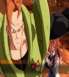 Android 16 protecting Android 21 dragon Ball FighterZ Nintendo Switch Xbox One PS4