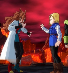 Android 18 argues with Android 21 dragon Ball FighterZ Nintendo Switch Xbox One PS4