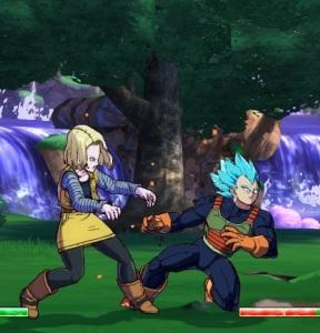 Android 18 vs super Saiyan blue Vegeta dragon Ball FighterZ Nintendo Switch Xbox One PS4