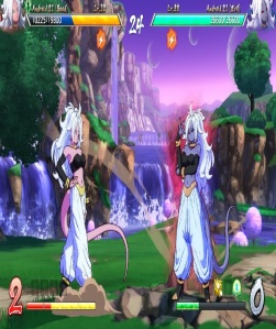 Boss battle good Android 21 vs evil Android 21 dragon Ball FighterZ Nintendo Switch Xbox One PS4