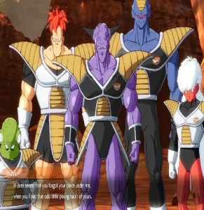 Captain Ginyu and the Ginyu force Resurrection dragon Ball FighterZ Nintendo Switch Xbox One PS4