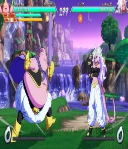 Majin Buu vs Android 21 Dragon Ball FighterZ Nintendo Switch Xbox One PS4