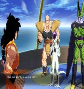 Yamcha talks to nappa dragon Ball FighterZ Nintendo Switch Xbox One PS4