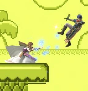 Zelda vs ike Dream Land GB stage super Smash Bros ultimate Nintendo Switch game boy