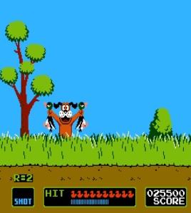 Dog with two dead ducks duck hunt NES Nintendo
