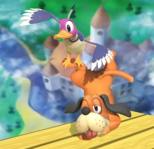 Duck Hunt dog and duck super Smash Bros ultimate Nintendo Switch