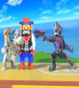 Duck Hunt dog and duck vs wolf super Smash Bros ultimate Nintendo Switch