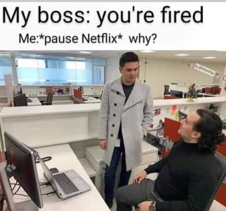 Memes Netflix at work fired