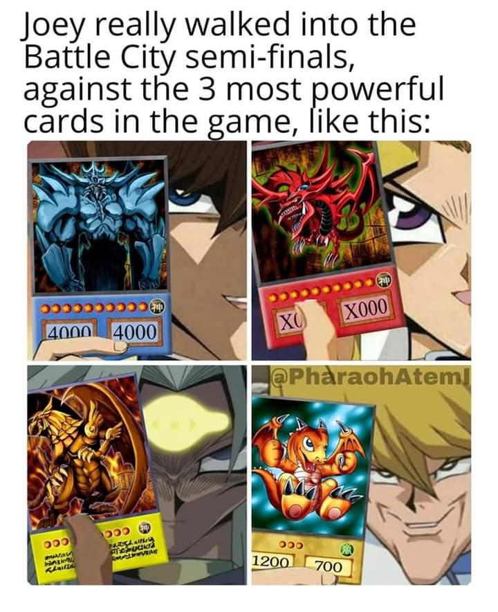 Memes Yu-Gi-Oh joey battle city finals