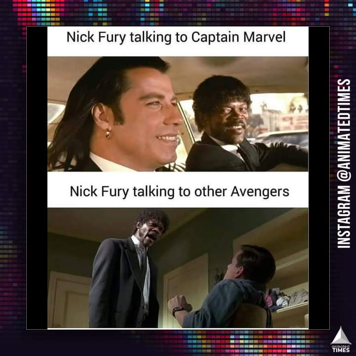 Memes nick fury and captain Marvel