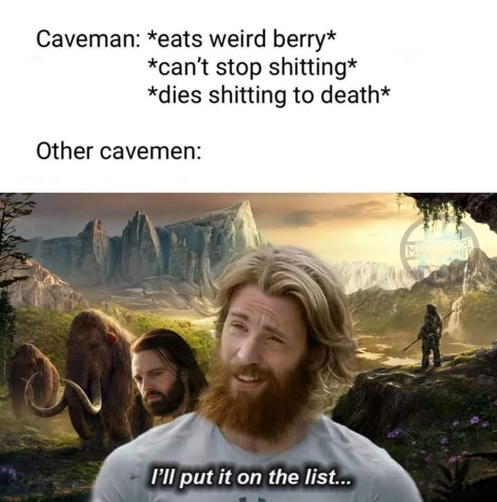 Memes eating wild berries