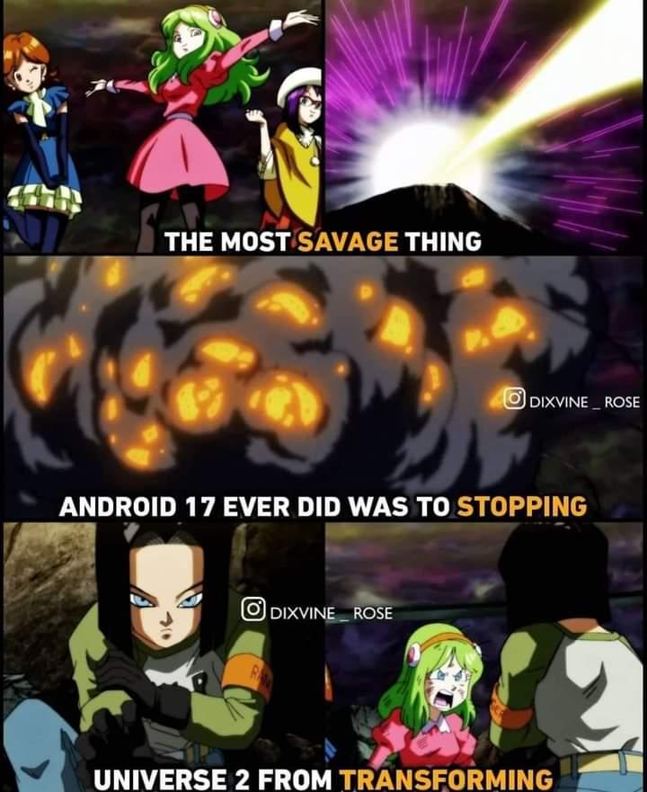 Memes android 17 dragon Ball Super